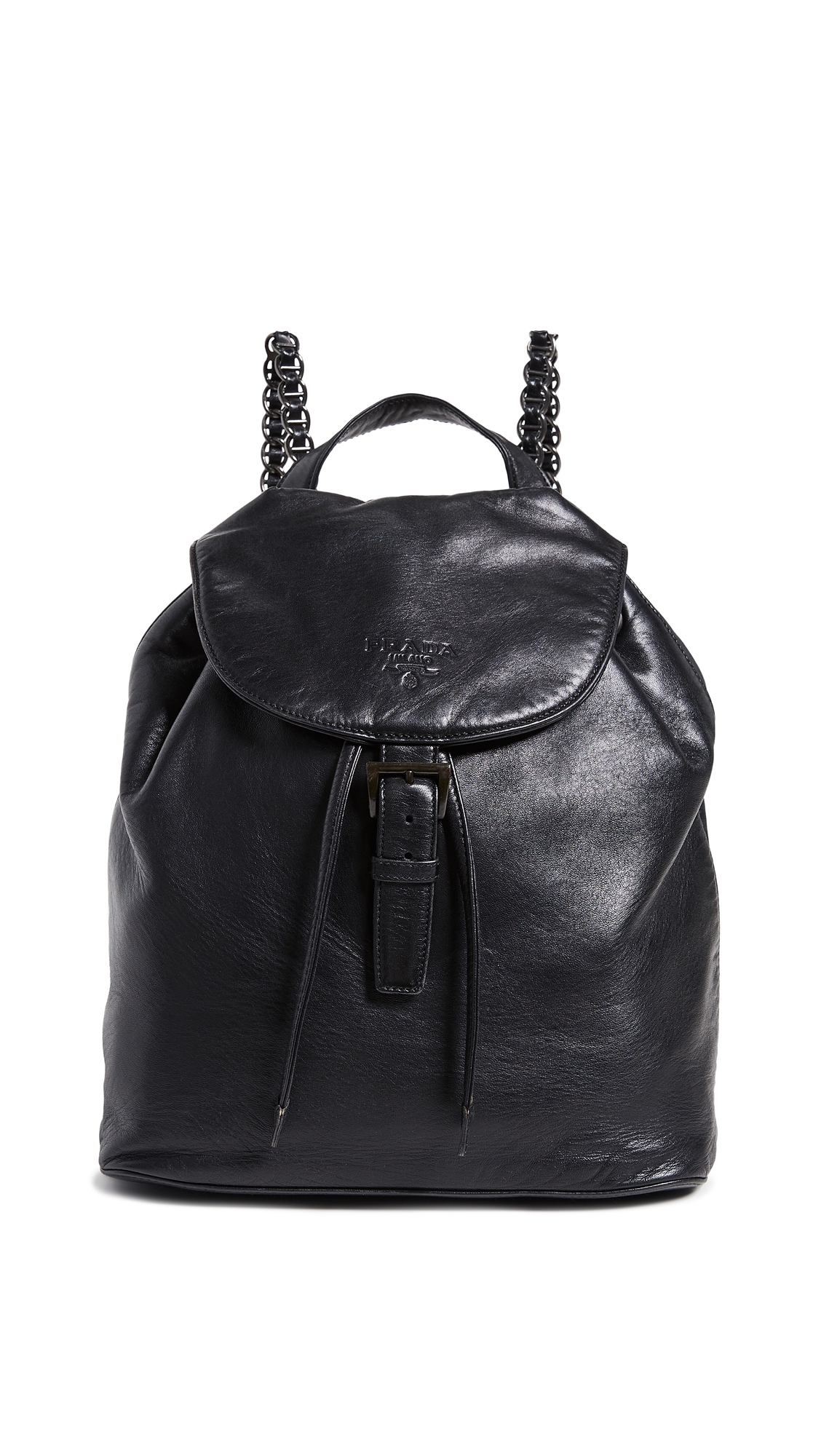 WHAT GOES AROUND COMES AROUND Prada Nappa Backpack in Black