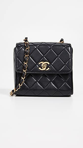 What Goes Around Comes Around Chanel Lambskin Small Shoulder Bag In Black 4b37bc041ae6d