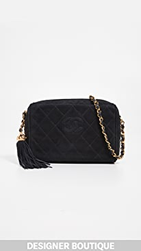 06424f50bfc What Goes Around Comes Around. Chanel Suede Diamond CC Bag.  3