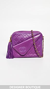 ad14f4d7fc31bc What Goes Around Comes Around. Chanel Purple Lambskin Medium Camera Bag