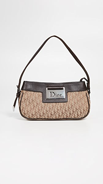 502d5fc28362 What Goes Around Comes Around Dior Brown Street Chic Small Shoulder Bag