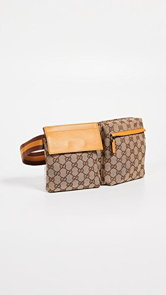 bf8ca18e2c0d Gucci Canvas Waist Pouch In Yellow | ModeSens