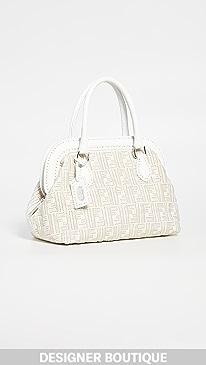 03cd82715947 What Goes Around Comes Around. Fendi White Woven Handbag