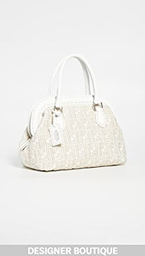 b0b90d556fec What Goes Around Comes Around. Fendi White Woven Handbag