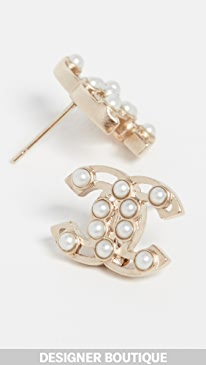 fb1fdd15d What Goes Around Comes Around. Chanel Imitation Pearl Earrings