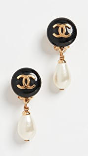 What Goes Around Comes Around Chanel Imitation Pearl Dangle Earrings
