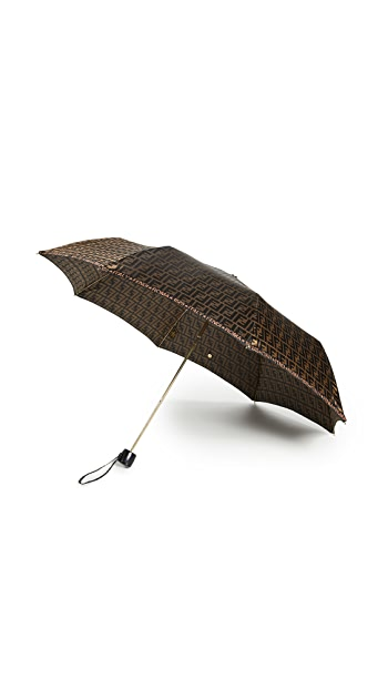 What Goes Around Comes Around Fendi Brown Nylon Umbrella - Brown