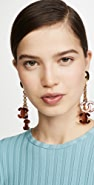 What Goes Around Comes Around Chanel Tortoise Dangling Earrings