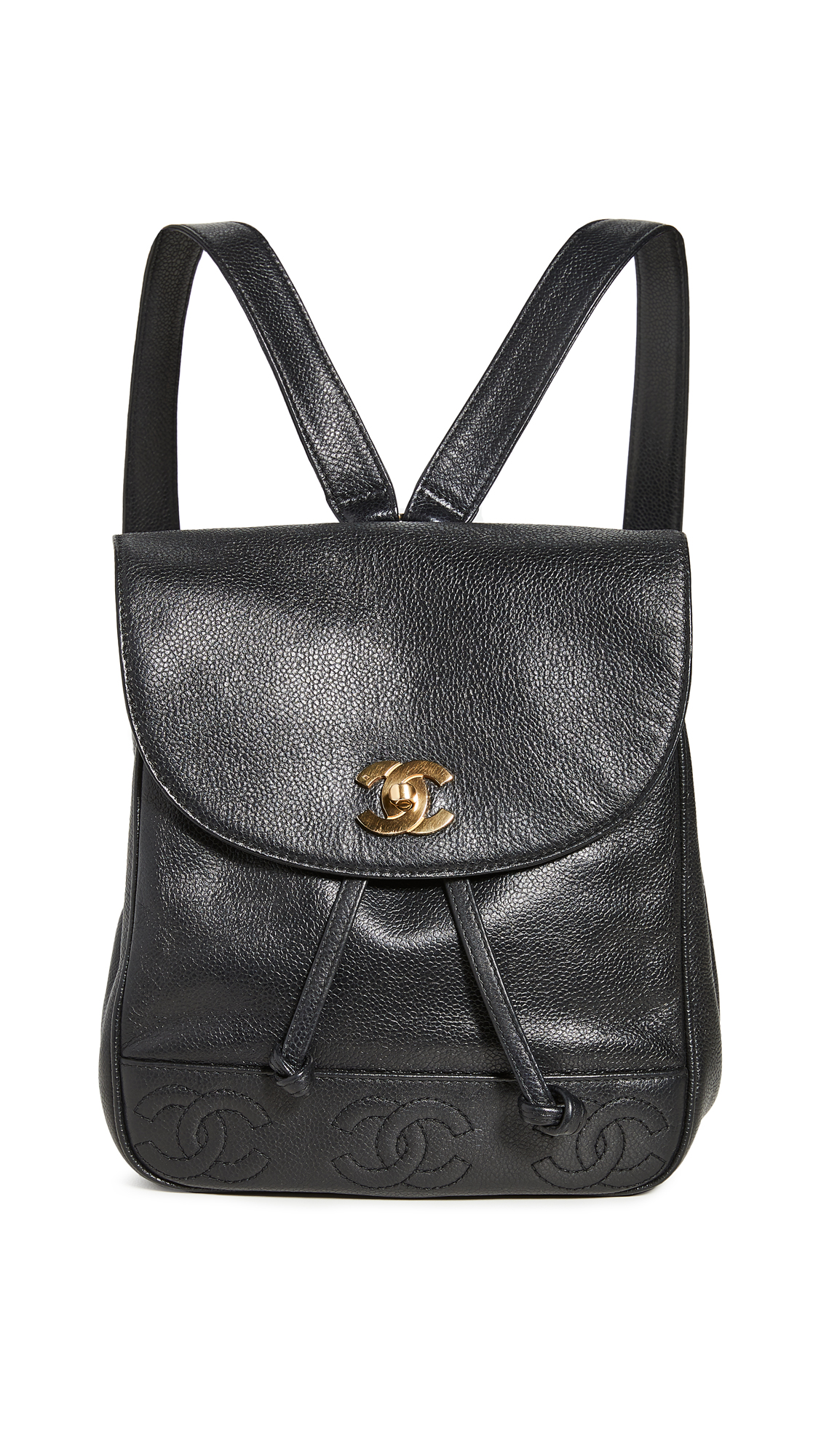 What Goes Around Comes Around Chanel Black Caviar Backpack