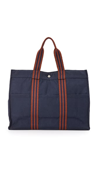 What Goes Around Comes Around Hermes Canvas Fourre Tout GM Tote (Previously Owned)