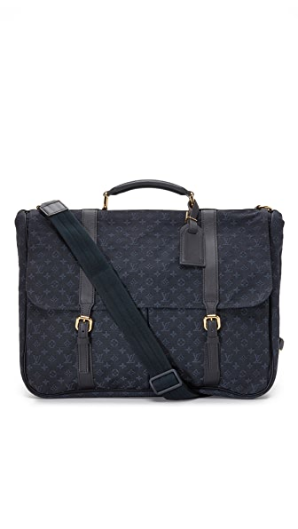 What Goes Around Comes Around Louis Vuitton Navy Mini Lin Denise Briefcase (Previously Owned)