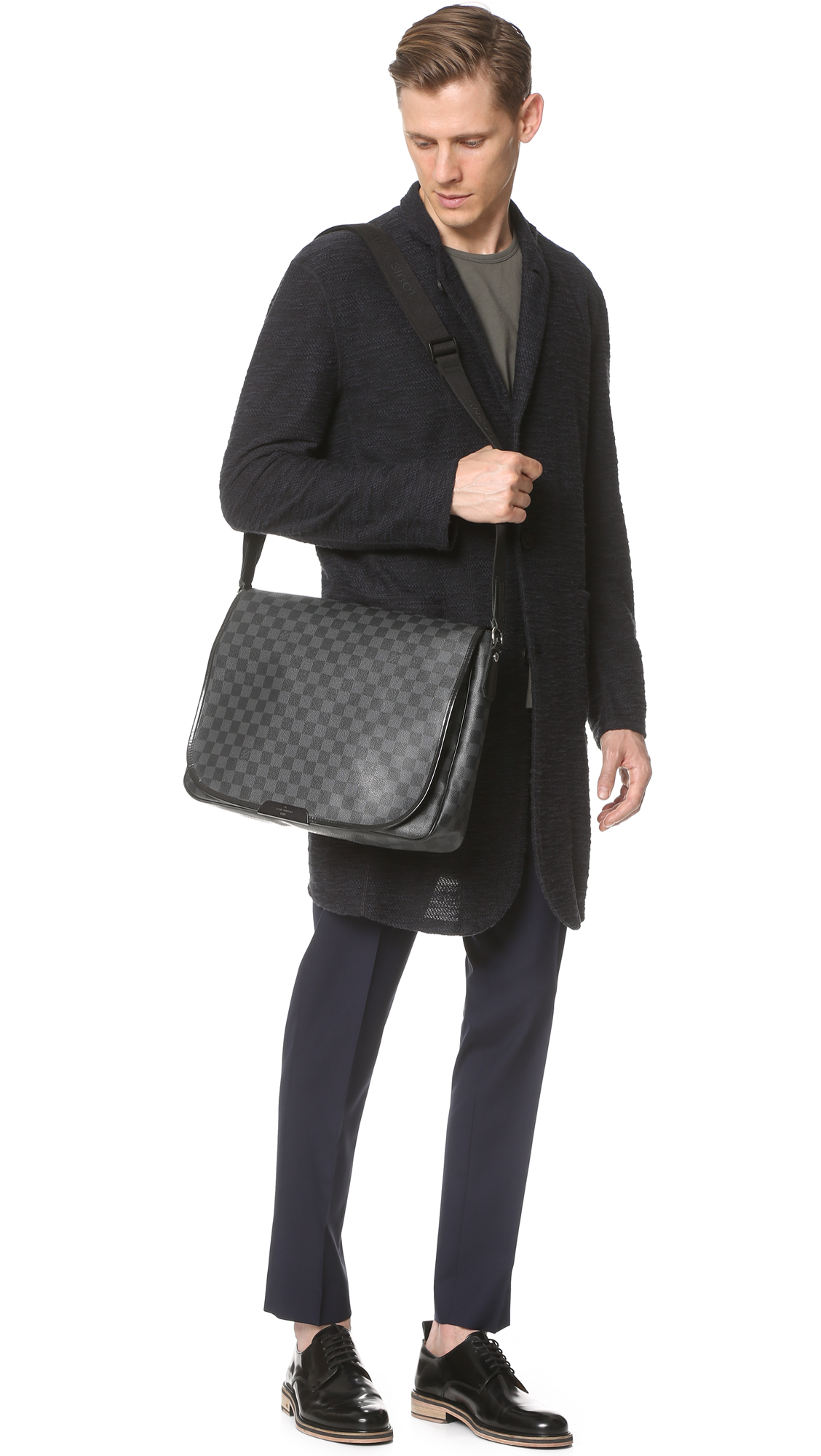 302c8e173 What Goes Around Comes Around Louis Vuitton Damier Graphite Daniel GM Bag  (Previously Owned) | EAST DANE