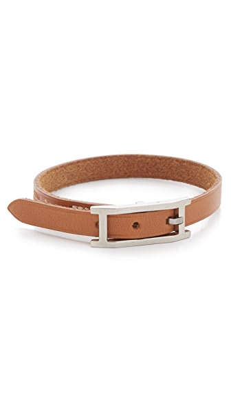 What Goes Around Comes Around Hermes Hapi Leather Bracelet (Previously Owned)