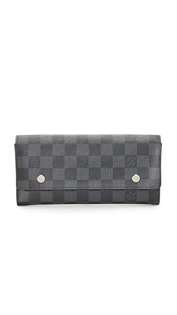 What Goes Around Comes Around Louis Vuitton Damier Graphite Modulable Long Wallet (Previously Owned)