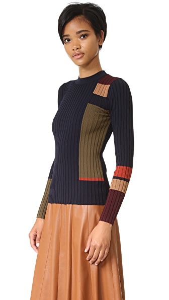 Whistles Ali Stripe Rib Sweater - Multi