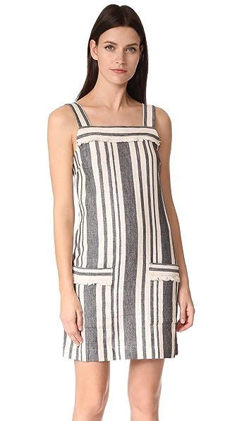Whistles Cici Stripe Bardot Dress - Cream Multi