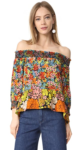 Whistles Off Shoulder Mandy Top - Multicolor