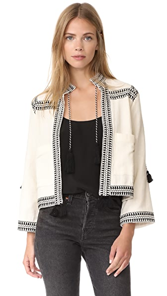 Whistles Trim Jacket - White/Black