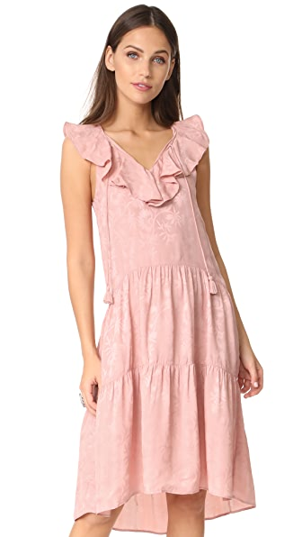 Whistles Stephanie Ruffle Dress In Pink