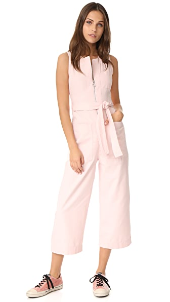 Whistles Alex Tie Jumpsuit - Pink