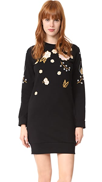 Whistles Embroidered Sweatshirt Dress - Multicolor