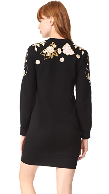 Whistles Embroidered Sweatshirt Dress