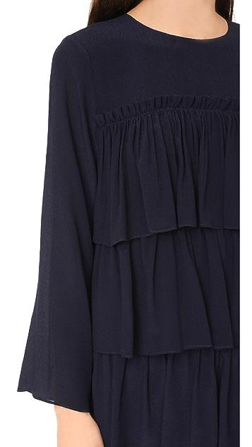 Whit Agatha Dress