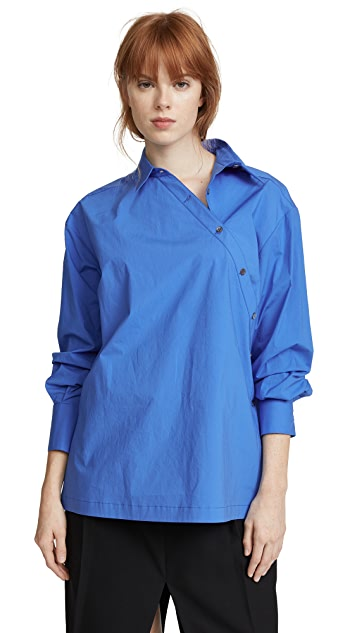 Whit Crossed Placket Shirt