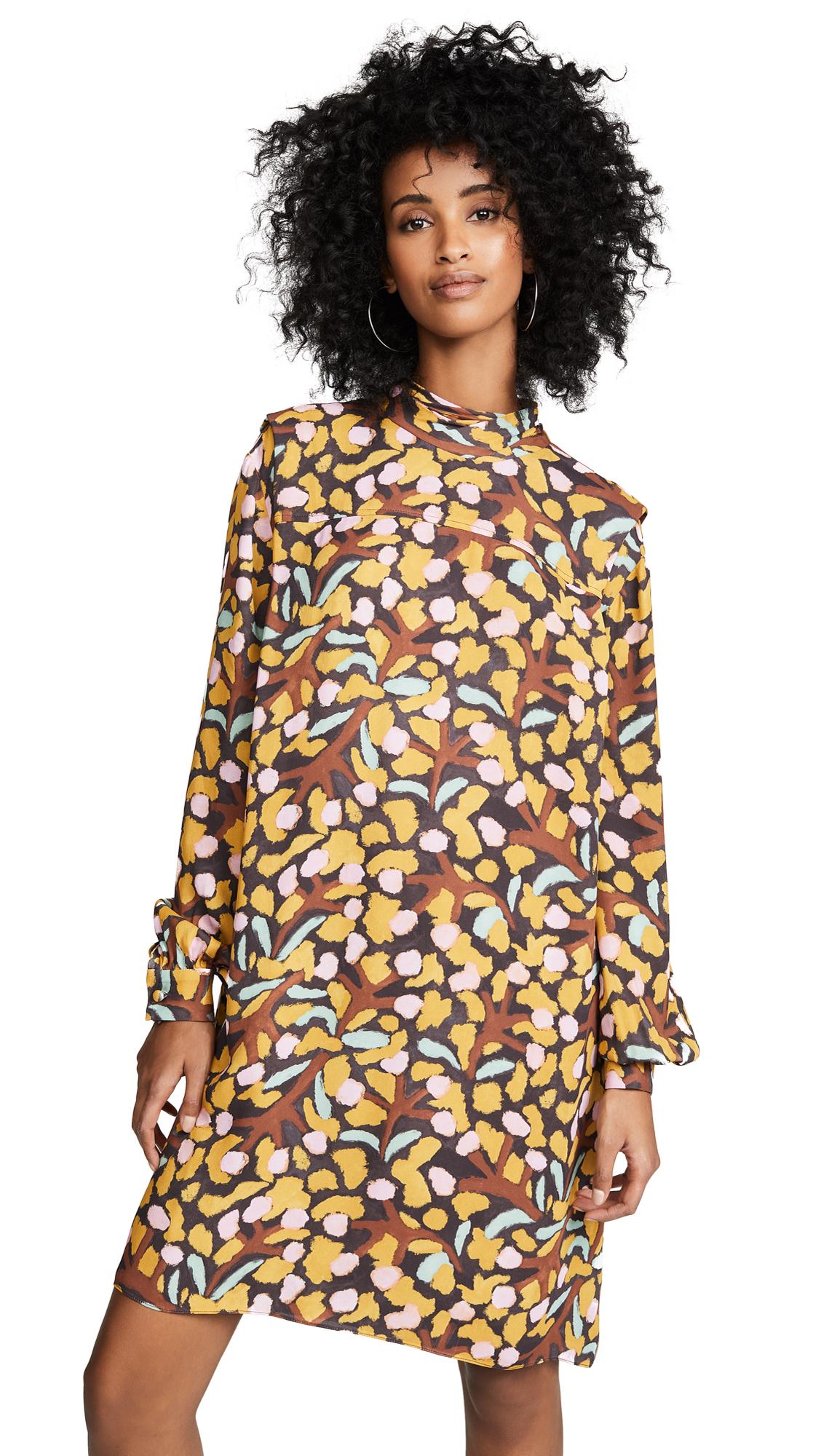 WHIT Alice Dress in Mustard/Multi