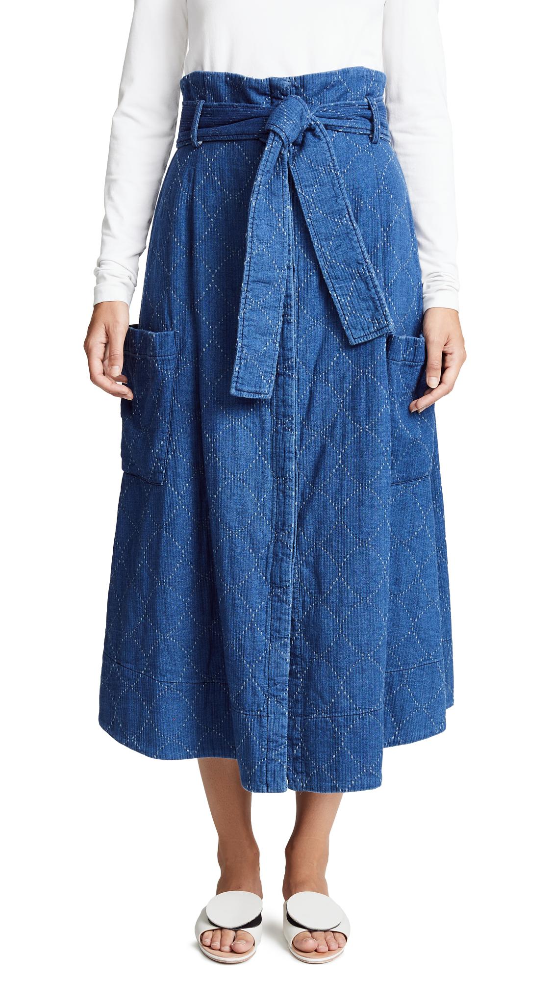 WHIT Pocket Skirt in Indigo