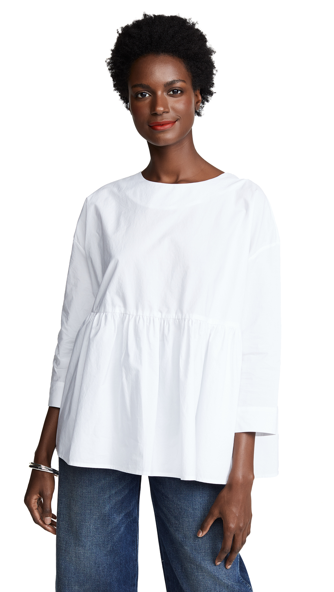 WHIT Dalia Top in White