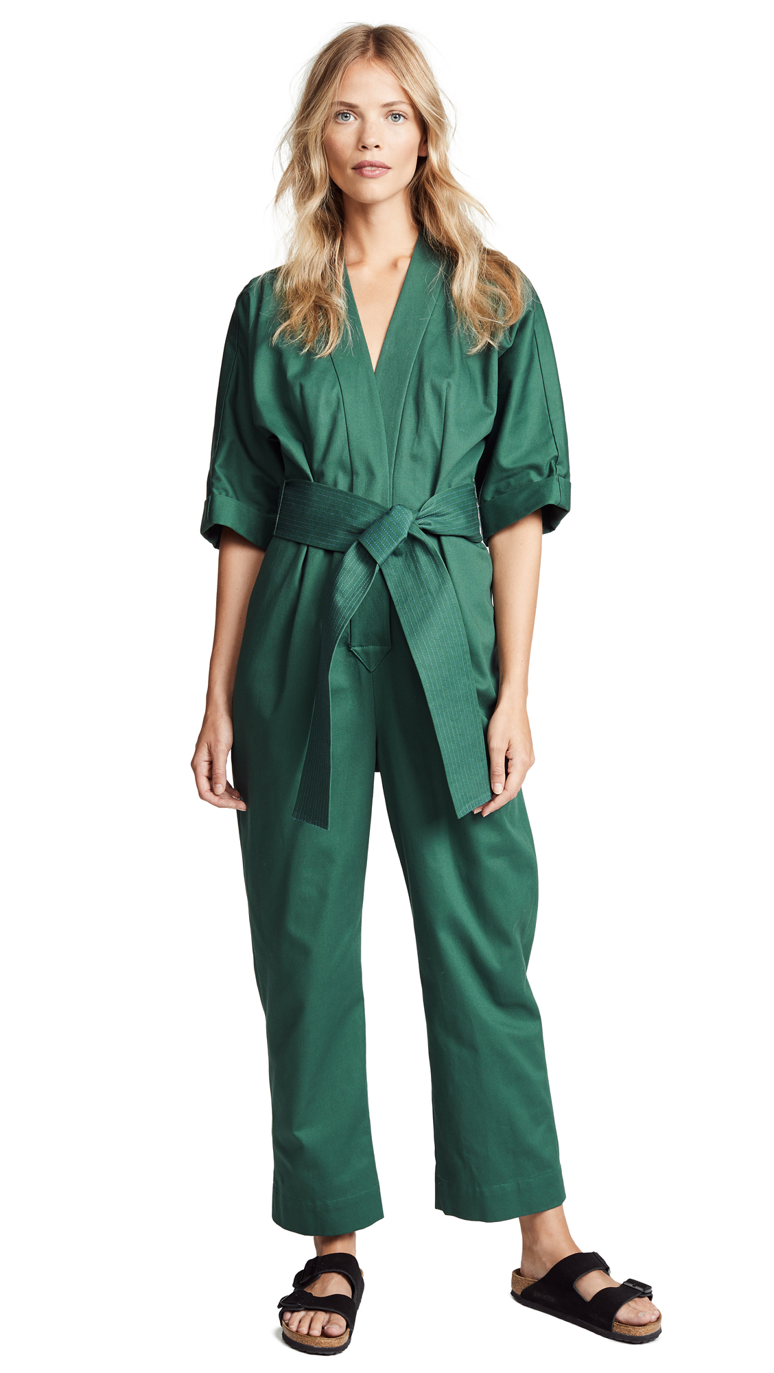 WHIT Penny Jumpsuit in Moss
