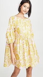 Whit 细褶连衣裙