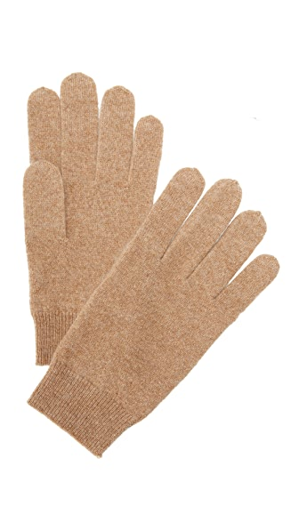 White + Warren Cashmere Gloves - Camel Heather