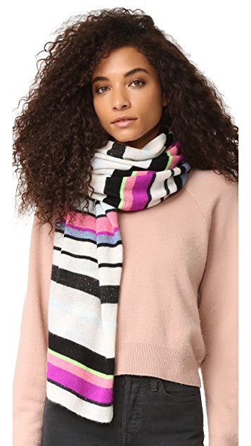 White + Warren Cashmere Striped Travel Wrap Scarf