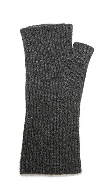 White + Warren Cashmere Plush Arm Warmers