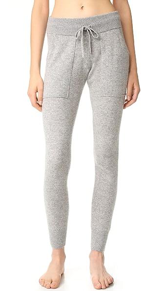 White + Warren Essential Cashmere Pants - Grey Heather