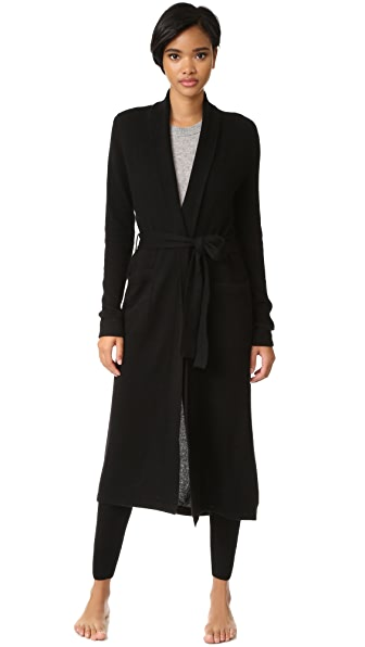 Luxe Cashmere Robe in Black