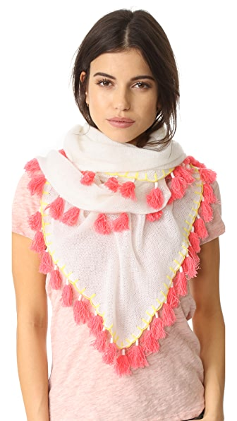 White + Warren Cashmere Tassel Triangle Scarf