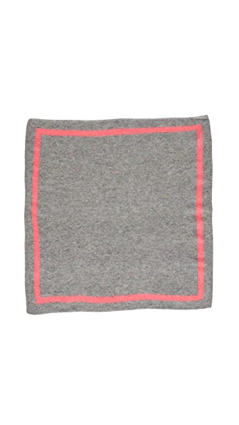 White + Warren Cashmere Tipped Neck Scarf In Grey/Poppy