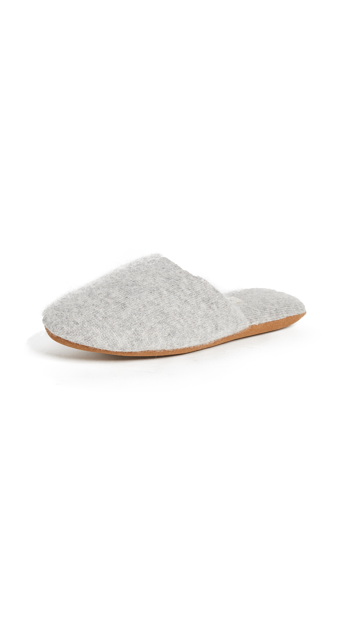 White + Warren Cashmere Slide Slippers - Grey Heather