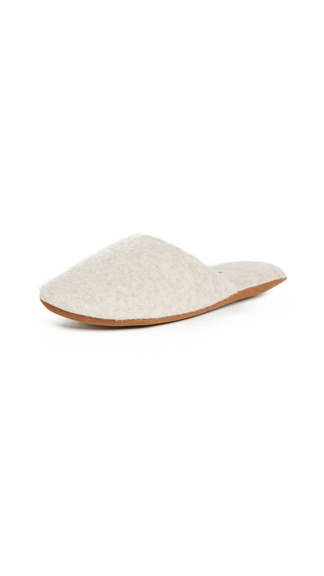 White + Warren Cashmere Slide Slippers - Sand Wisp Heather