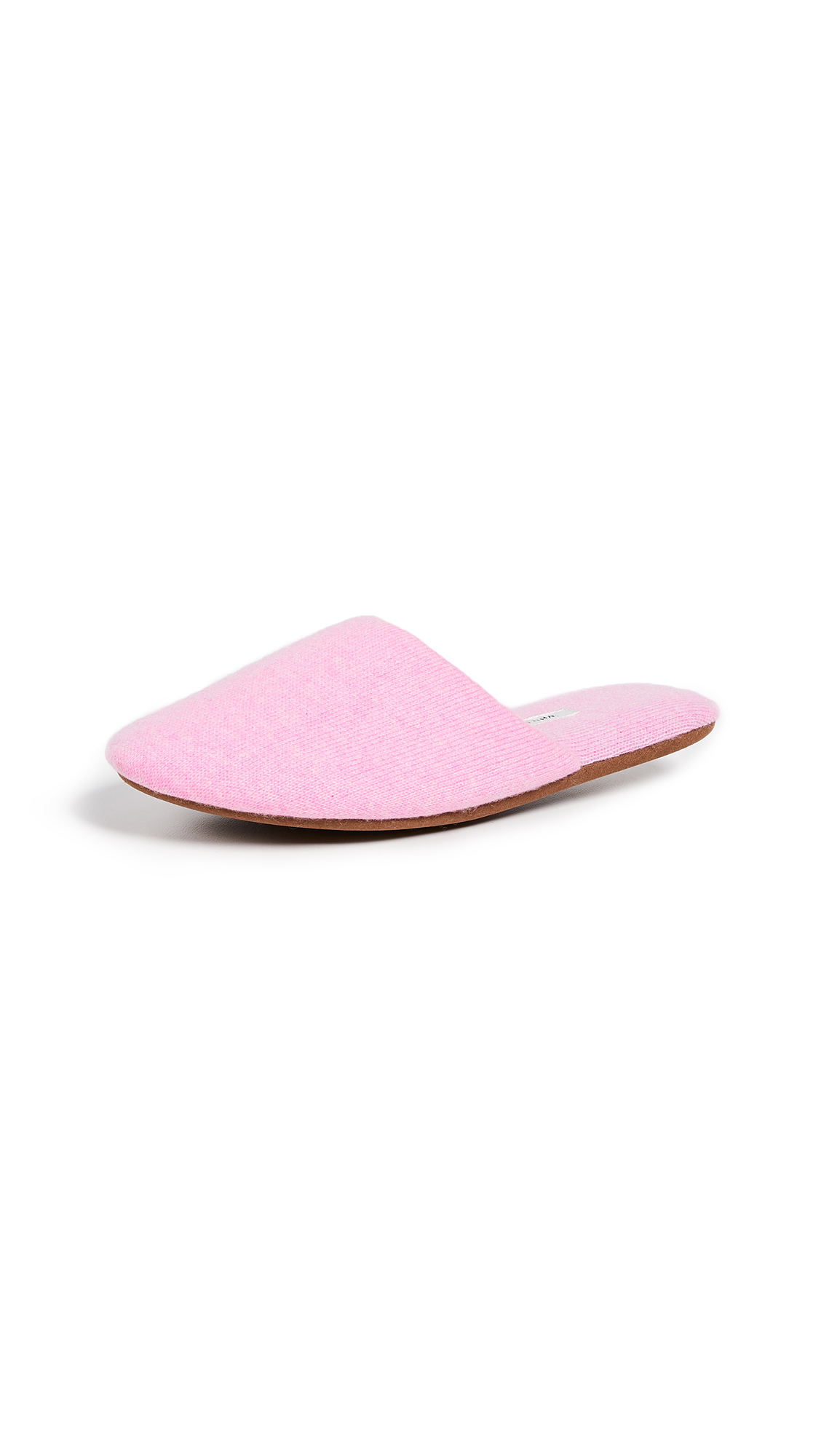 White + Warren Cashmere Slide Slippers - Cotton Candy Heather