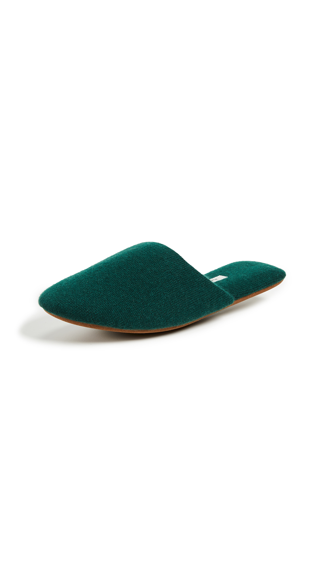 White + Warren Cashmere Slide Slippers - Pine Needle Heather