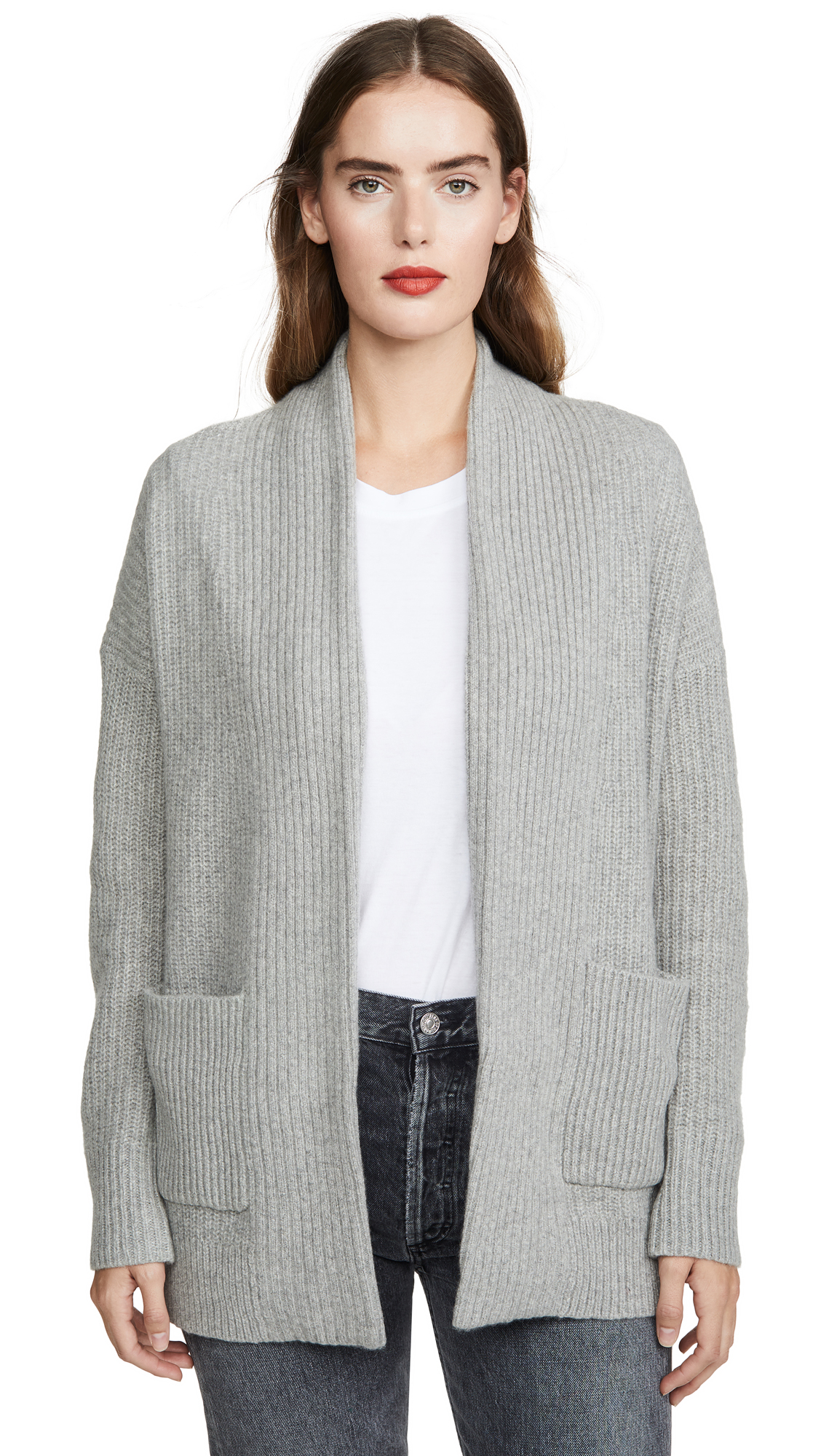 Buy White + Warren online - photo of White + Warren Luxe Pocket Cashmere Cardigan