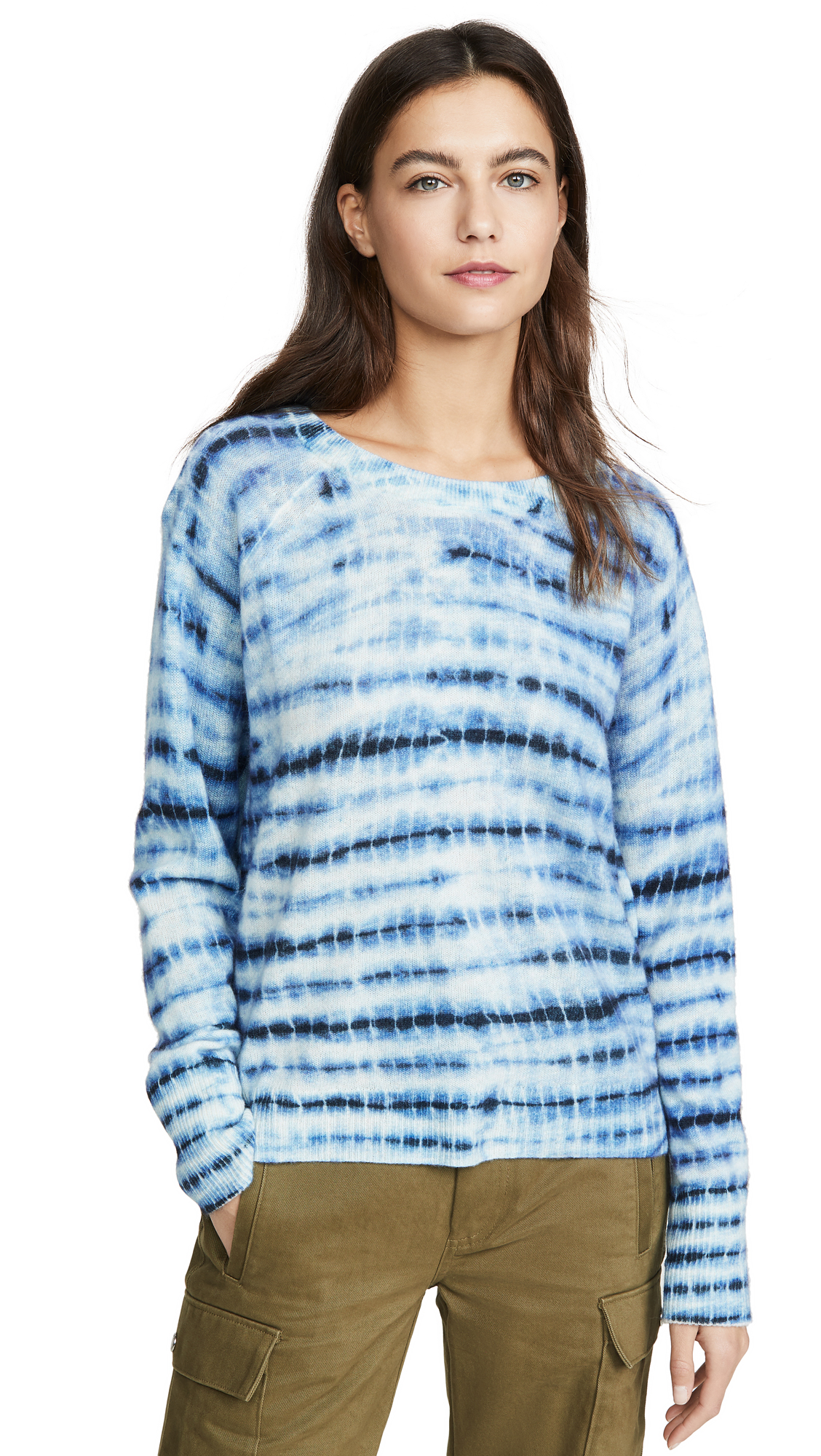 Buy White + Warren online - photo of White + Warren Essential Tie Dye Cashmere Sweater