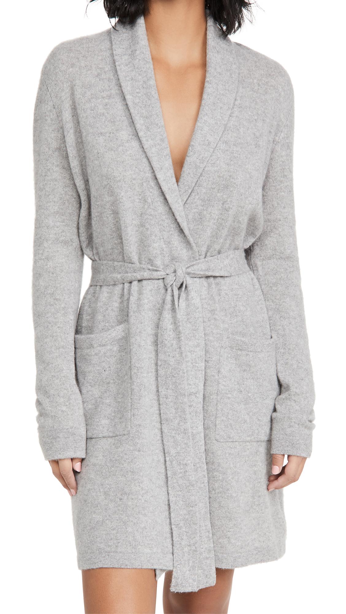 White + Warren Cashmere Short Robe