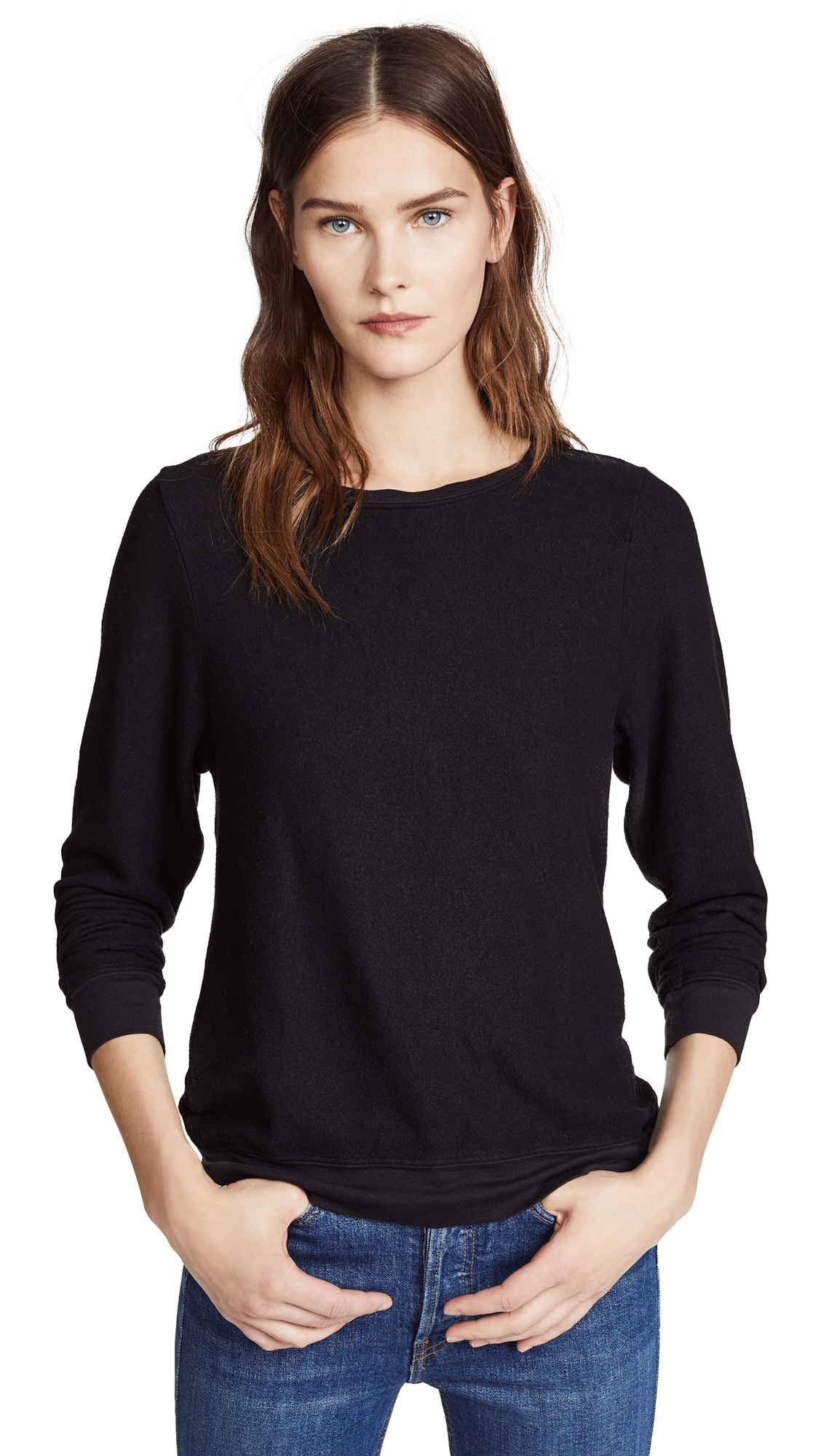 Wildfox Basic Pullover - Jet Black