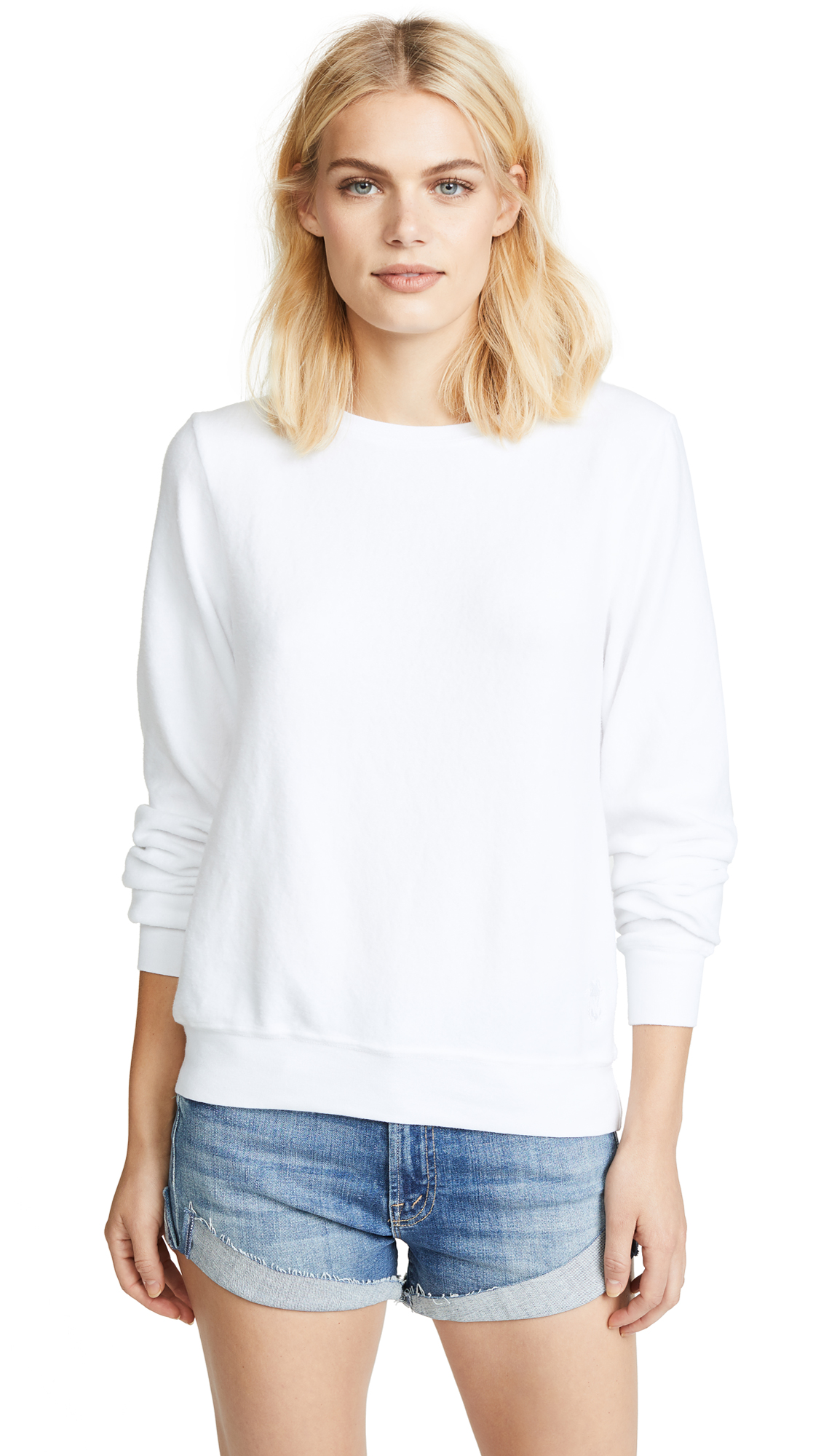 Wildfox Basic Pullover - Clean White