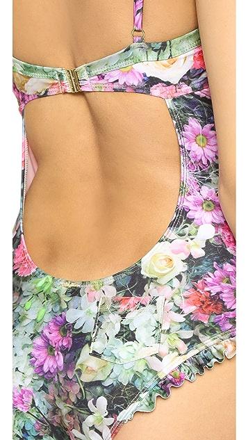 Wildfox Fairy Wall Ruffle Swimsuit